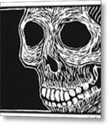 Skull Aware Metal Print