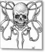 Skull Design Metal Print
