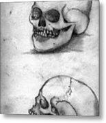 Skull Drawing Metal Print