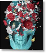 Skull Hope Black Metal Print