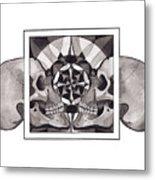Skull Mandala Series Nr 1 Metal Print
