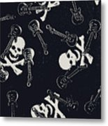 Skull Rockers Art Metal Print