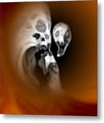 Skull Scope 2 Metal Print