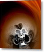 Skull Scope 3 Metal Print