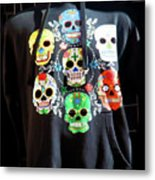 Skull T Shirts Day Of The Dead  Metal Print