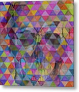 Skull Triangle Metal Print