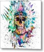 Skull - Wild Sprit Metal Print