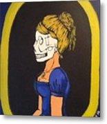 Skull Woman Metal Print