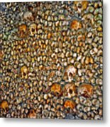 Skulls And Bones Under Paris Metal Print