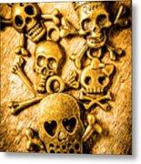 Skulls And Crossbones Metal Print