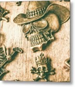 Skulls And Pieces Metal Print