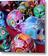 Skulls Day Of The Dead  Metal Print