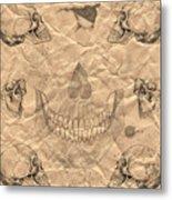 Skulls In Grunge Style Metal Print