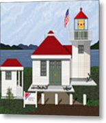Skunk Bay Lighthouse Metal Print