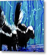 Skunks Metal Print