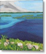 Serene Blue Lake Metal Print