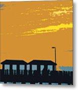 Sky And Pier Metal Print