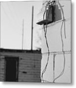 Sky And Wire Metal Print
