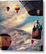 Sky Caravan Hot Air Balloons Metal Print
