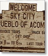 Sky City Sign Metal Print