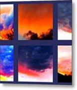 Sky Colours Metal Print