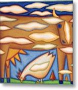 Sky Cow Metal Print