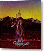 Sky Diamonds Metal Print