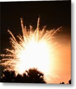 Sky Fire And Palms Metal Print