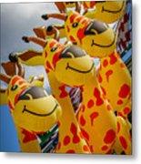 Sky Giraffes Metal Print