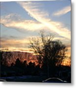 Sky Message Metal Print