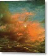 Sky Moods - When The Moons Behind The Clouds Metal Print