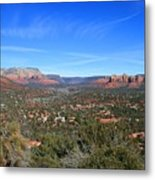 Sky Mountain View Metal Print
