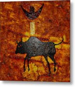 Sky People Taking Buffalo Metal Print