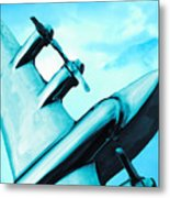 Sky Plane Metal Print