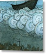 Sky Sailing Metal Print