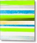 Sky Stripes 12 Metal Print