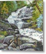 Sky Valley Waterfall Metal Print