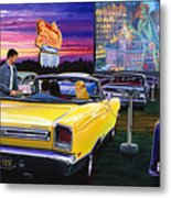 Sky View Drive-in Metal Print