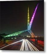 Skydance Bridge Okc Metal Print