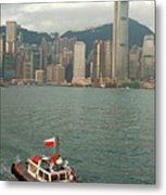 Skyline Across The Harbor From Kowloon In The Morning Metal Print by Sami Sarkis
