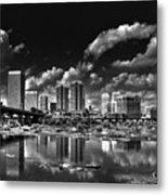 Skyline Along The River Metal Print