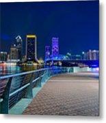 skyline and river coast scenes in Jacksonville Florida Metal Print