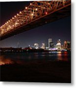 Skyline Bridge Metal Print