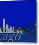 Skyline Chicago 4 Metal Print