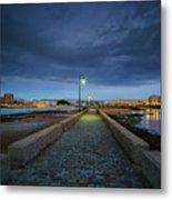 Skyline From The Walkway Cadiz Spain Metal Print