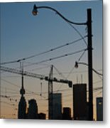 Skyline Jumble Metal Print