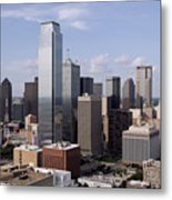 Skyline Of Dallas Texas On A Sunny Day Metal Print
