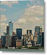 Skyline Of New York City - Lower Manhattan Metal Print