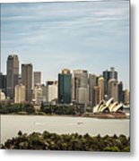 Skyline Of Sydney Downtown  Viewed From Taronga Hill, Australia Metal Print