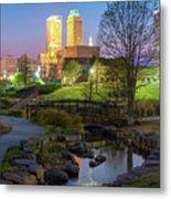 Skyline Of Tulsa Oklahoma At Dusk Metal Print